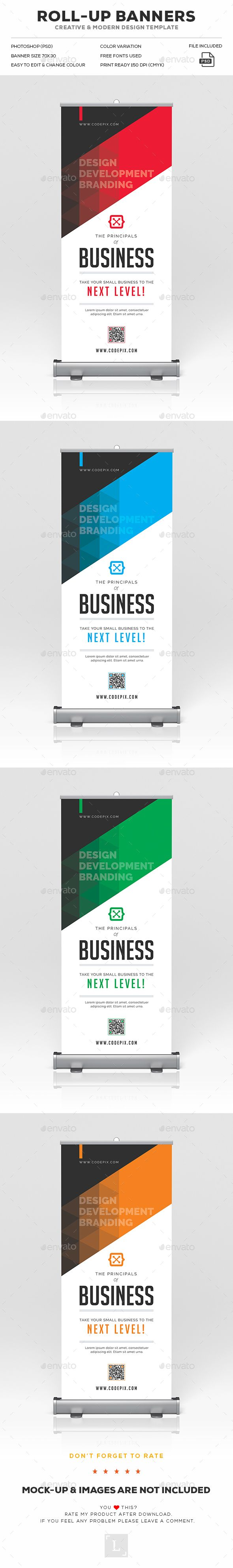 Roll-Up Banner by UXcred FILE INFORMATION:Easy customizable and editable 150 DPI...