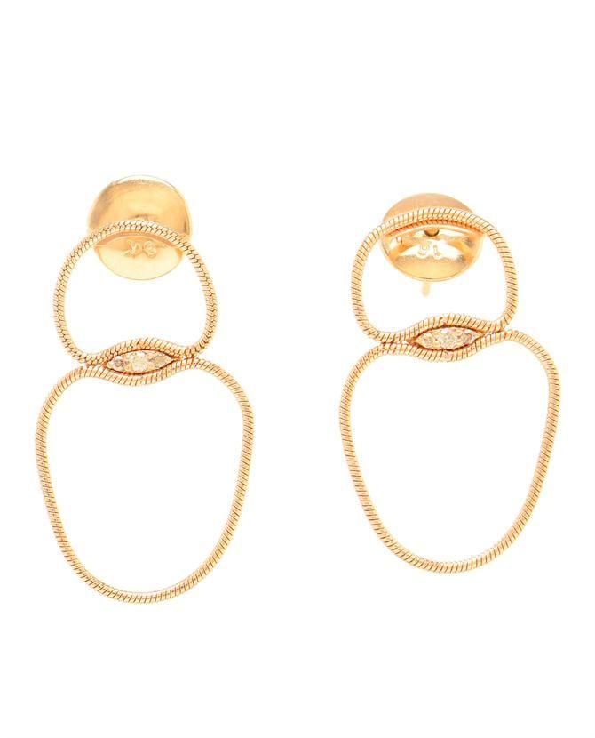 FERNANDO JORGE | 18k Rose Gold and Diamond Fluid Drop Earrings