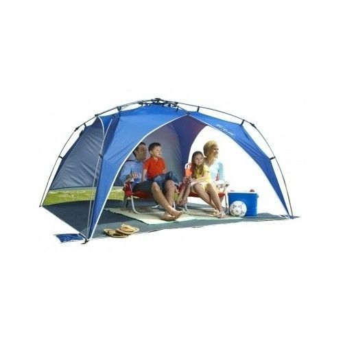 Lightspeed Outdoors Quick Beach Canopy Tent - Lightweight compact beach canopy-style pop up sun shelter sets up and tears down instantly thanks to the ...  sc 1 st  Pinterest & Outdoor Beach Canopy Sun Pop-Up Umbrella Shade Portable Tent ...
