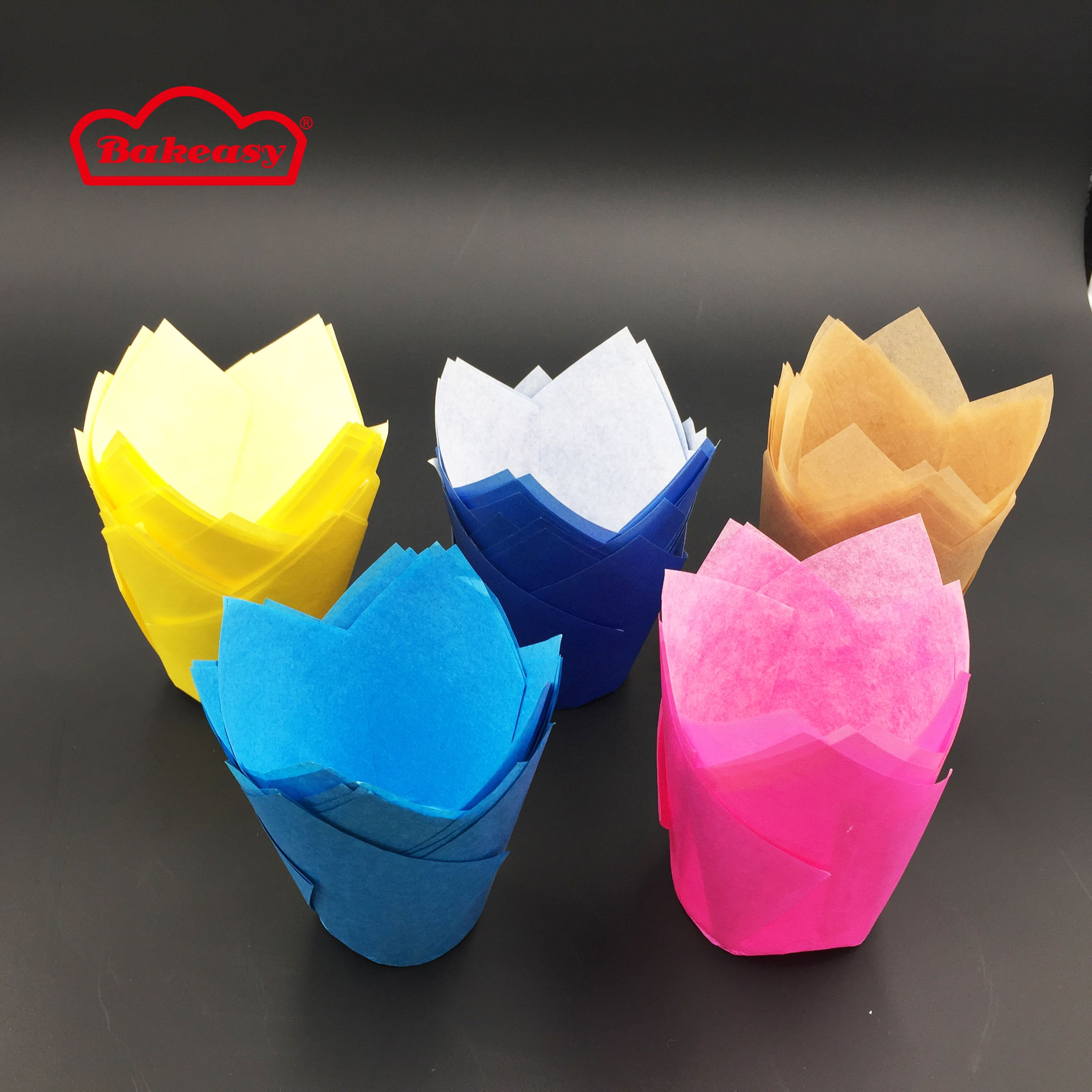 Muffin Bakeware Cups Tulip Baking Cupcake Liners With Grease Proof Paper Http Bit Ly 2xo1mwo Papertulipmuffincups Coloredpapertulipbakingcups Tulipcupcak