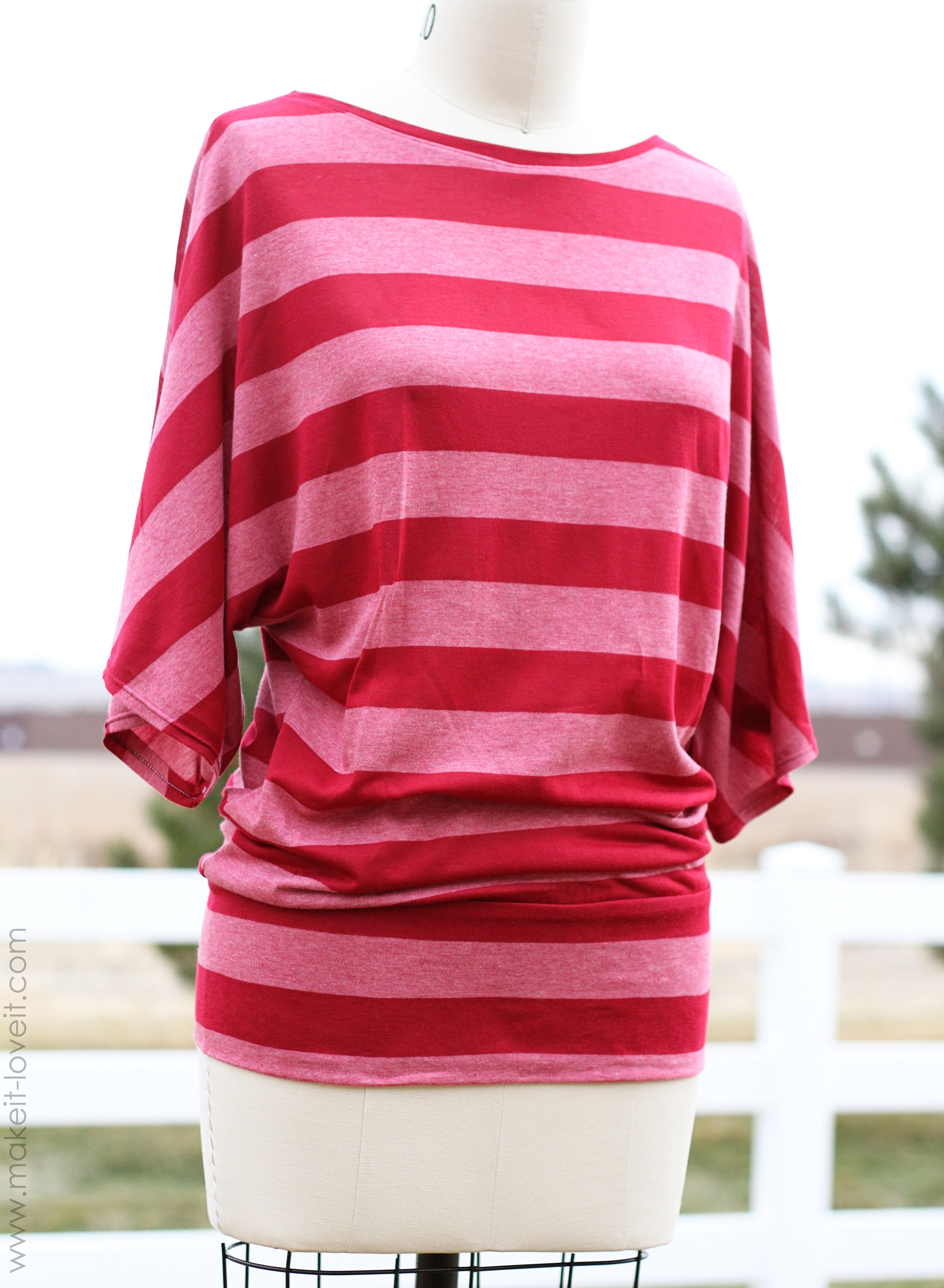 Make a Simple Top: Dolman Style with Banded Bottom | ropa para mamá ...