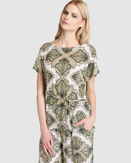 ade0b4b2be5 Blusa de mujer Object con estampado ornamental | SS 2016 WOMAN TOPS ...