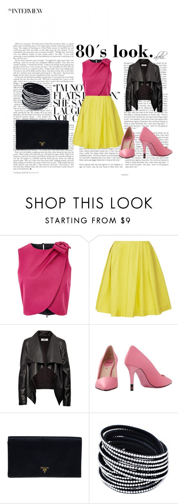 """80´s look."" by alejandralilithg on Polyvore featuring Thakoon Addition, HIDE, Fendi and Prada"