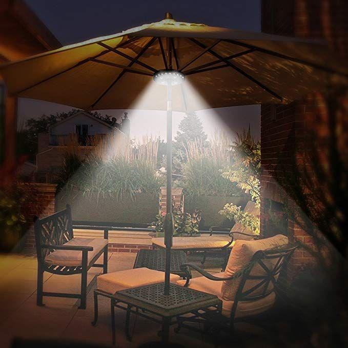 umbrella pole light for patio umbrellas
