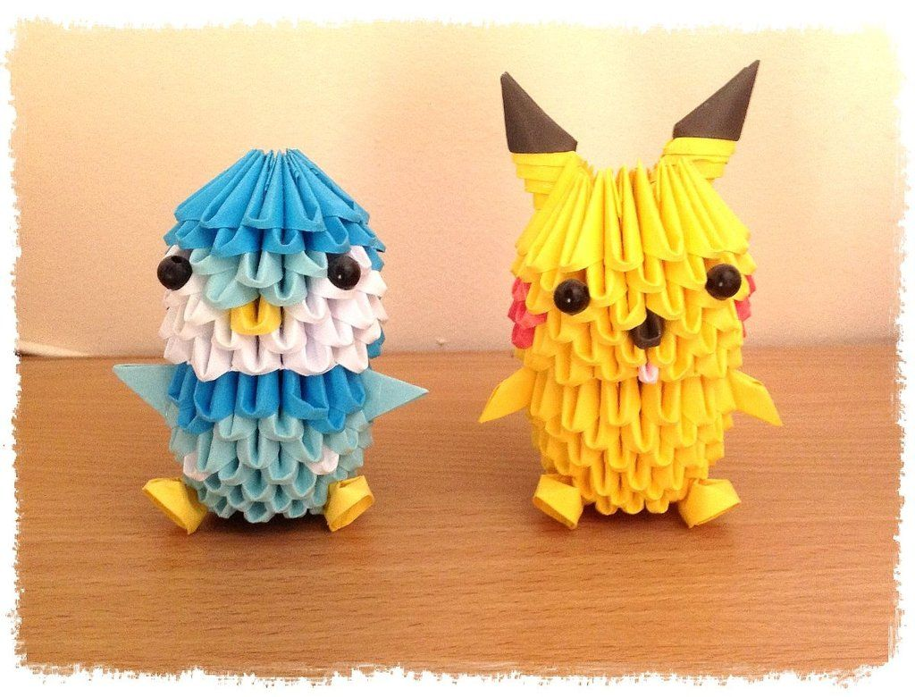 3d Origami Piplup And Pikachu By Mangakasama On DeviantArt