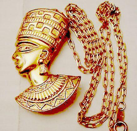 African Queen Nefertiti Necklace Choker by PrettyVintiqueJewels
