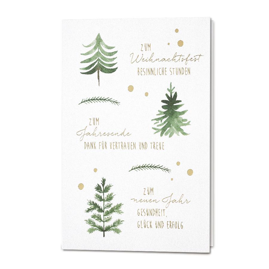weihnachtsw nsche f r kunden mit edler goldfolienpr gung weihnachtskarten christmascards