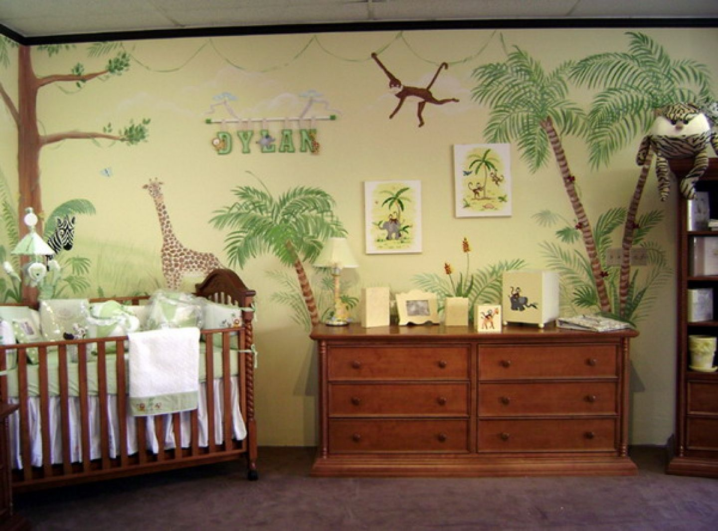 Bedroom:Traditional Baby Nursery Wall Murals Decoration Africa ...