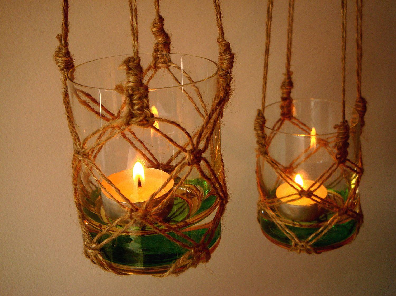 Candle holder ideas lighting summer nights rustic - Make hanging lanterns ...