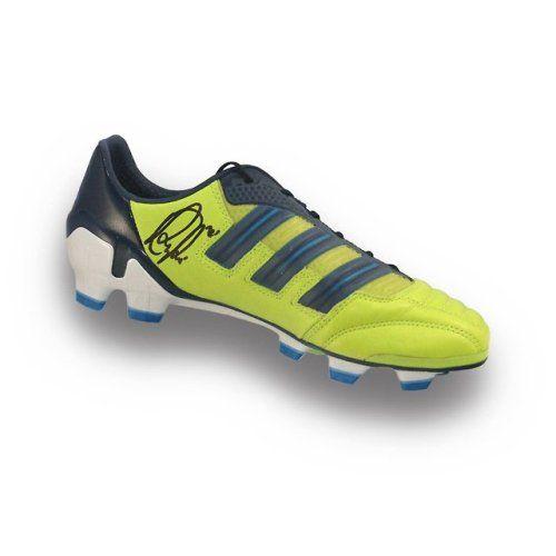 474f3aff663 Robin van Persie Signed Soccer Shoe Amazon...