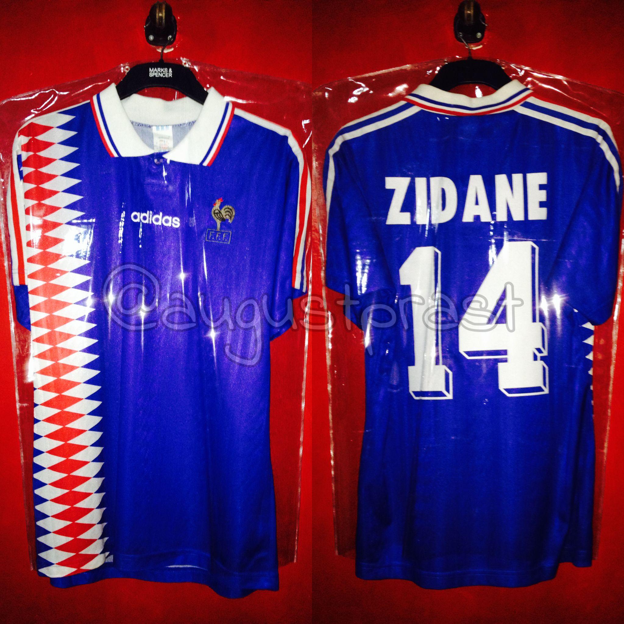 France 1994-1996 Home  14 Zidane  9522d35c9