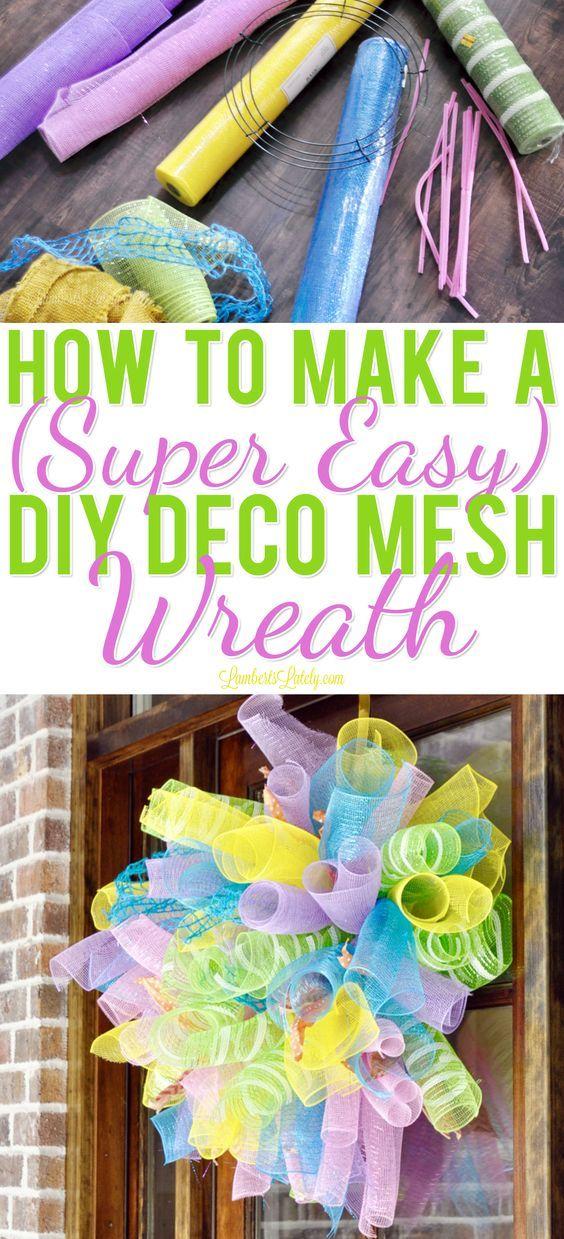 How to Make a (Super Easy) DIY Deco Mesh Wreath