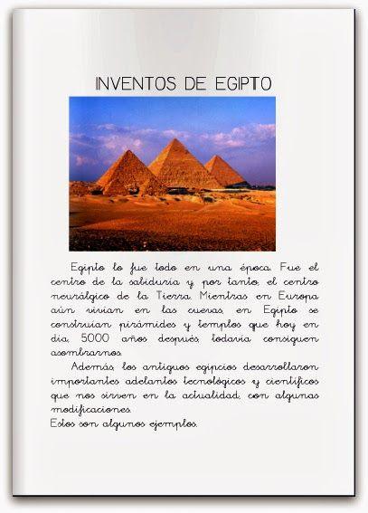Recursos Para Educación Infantil Egipto Egipto Inventos Egipcios El Antiguo Egipto Para Niños