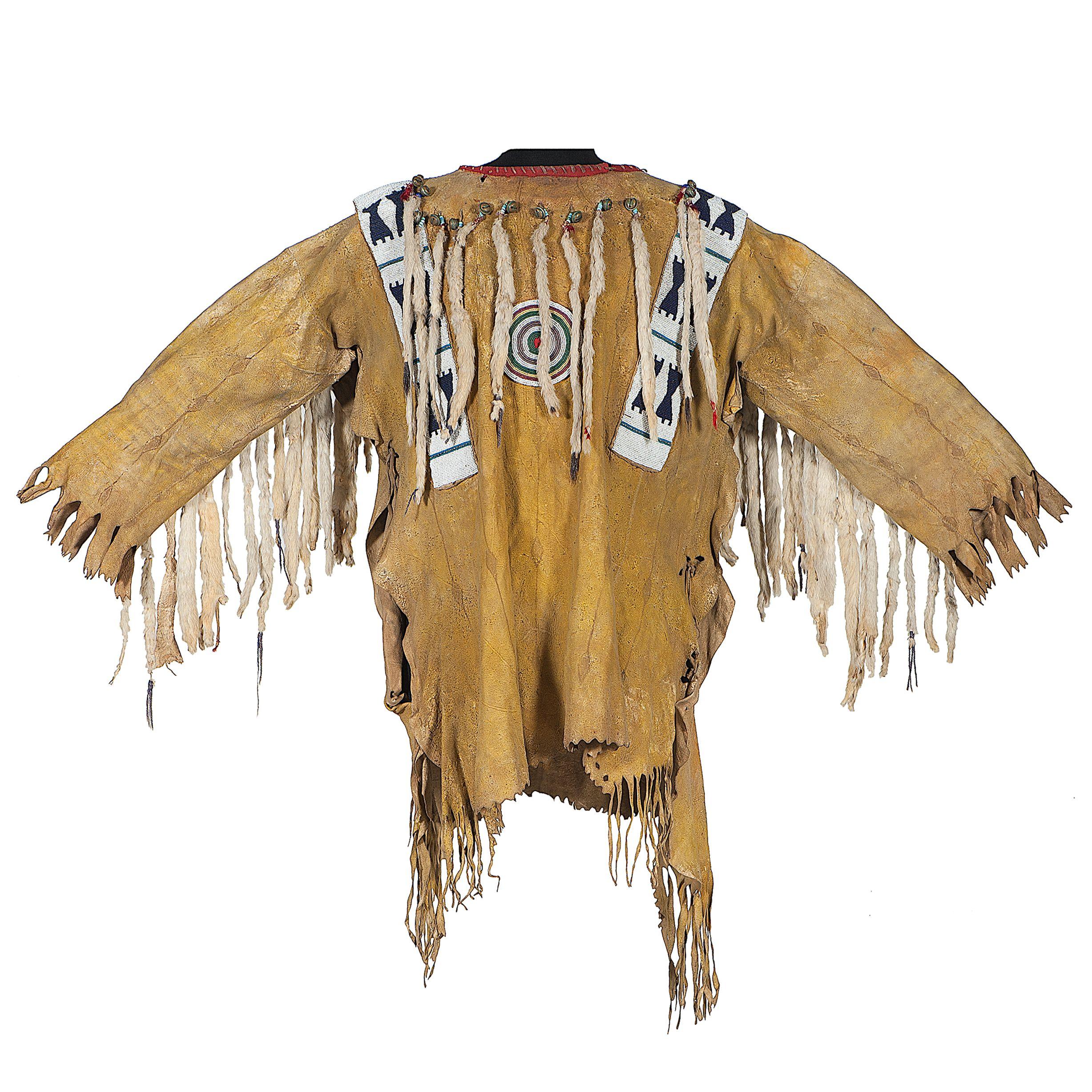 Blackfoot Beaded Hide War Shirt Collected By John M Phillips 1861