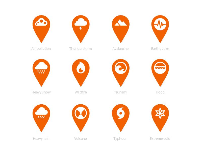 Disaster response app icon design by Jahng hyoung joon