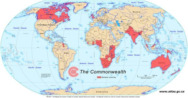 The commonwealth this world map shows the member countries of the the commonwealth this world map shows the member countries of the commonwealth earth sciencecommonwealthworld gumiabroncs Image collections