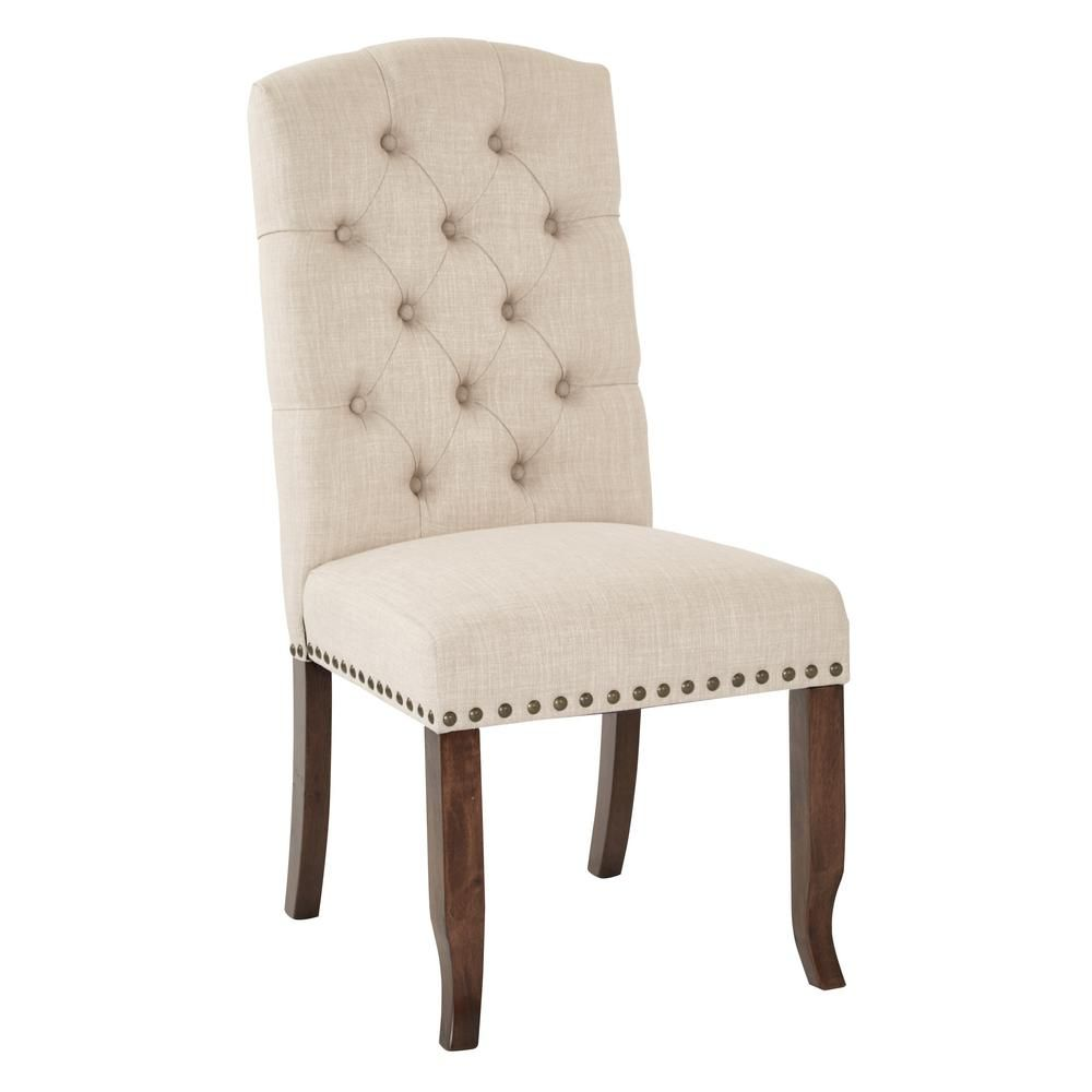 Osp Home Furnishings Jessica Linen Tufted Dining Chair Jsa L38