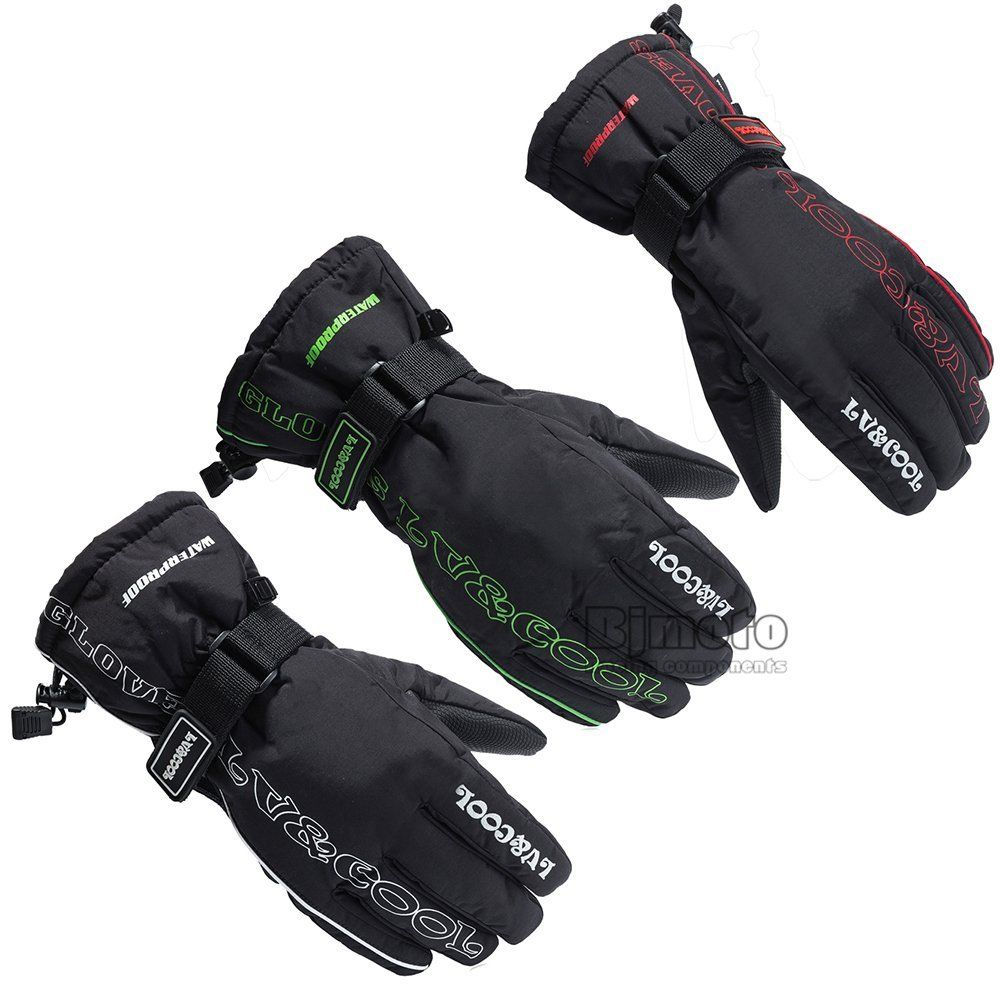 Mens Gloves Amazon Uk - Winter motorcycle gloves men racing waterproof windproof warm leather cycling bicycle cold luvas motor guantes glove