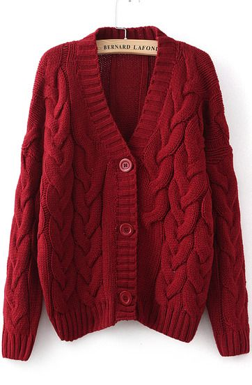 Mens Open Front Long Sleeve Longline Rib Knitted Baggy Top Oversized Cardigan Wine