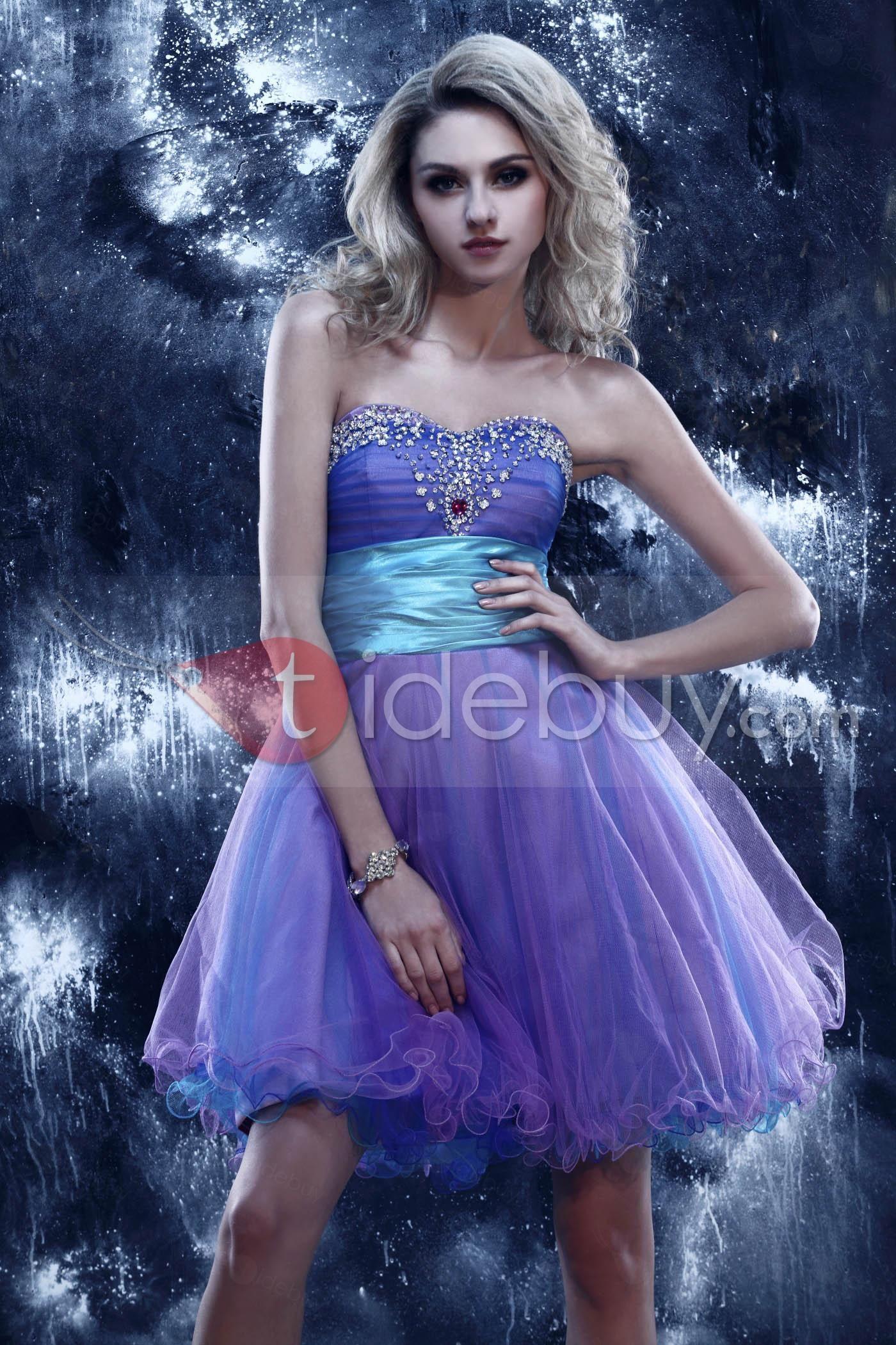 Mágico Dasha\'s-Vestido de Prom/Ceremonia de Gasa sin Tirantes de ...