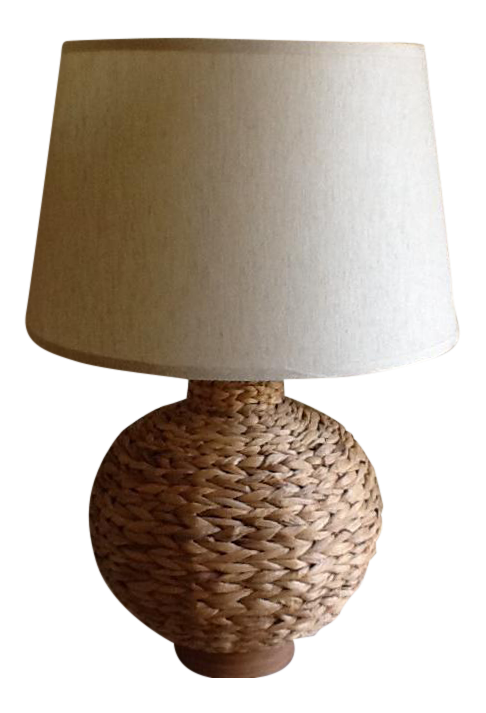 Boho Chic Natural Bamboo Raffia Rope Table Lamp Rope Table Lamps Lamp Table Lamp