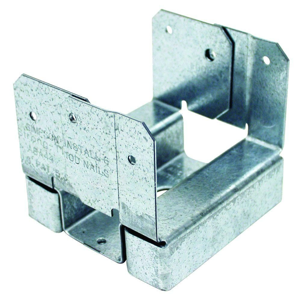 Simpson Strong-Tie ABA 4x4 ZMAX Galvanized Adjustable Post Base-ABA44Z -  The Home