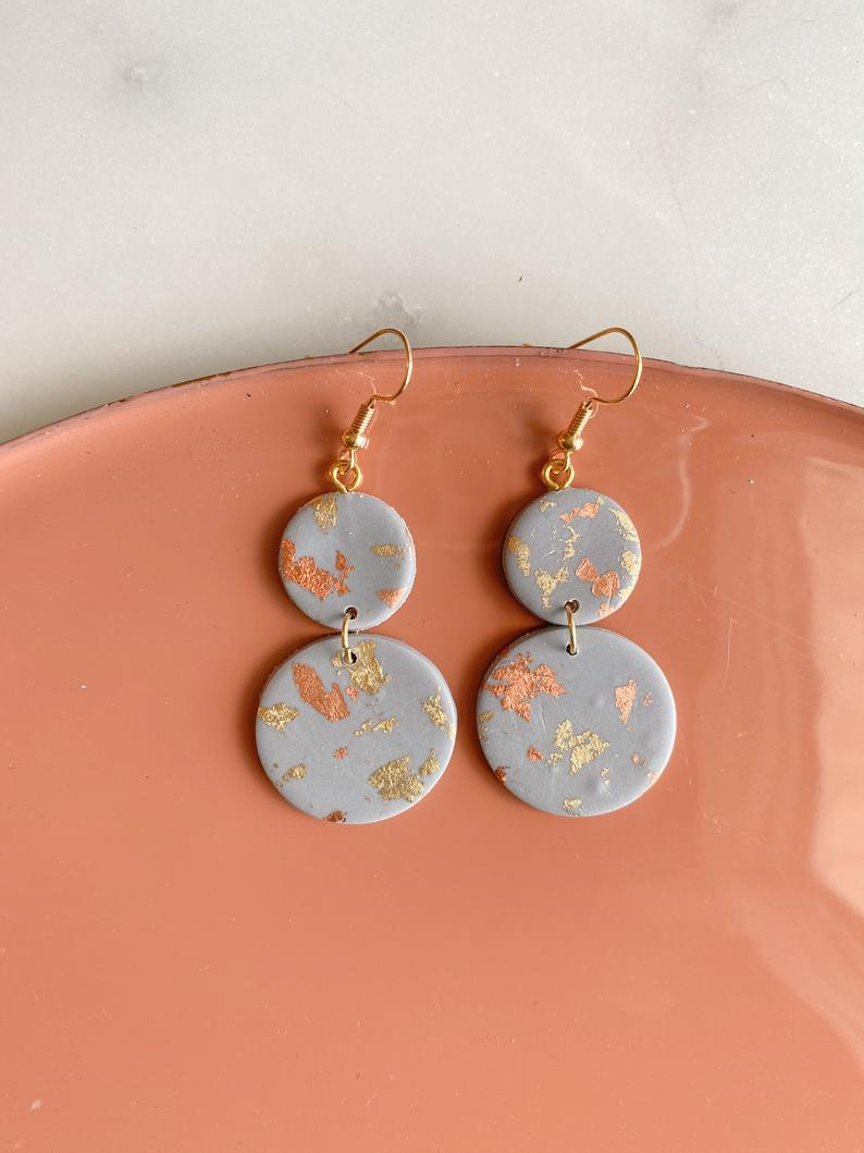 Mixed metals roses earrings silver branch with mixed metals hanging roses flowers dangle roses earrings stainless steel ear wire