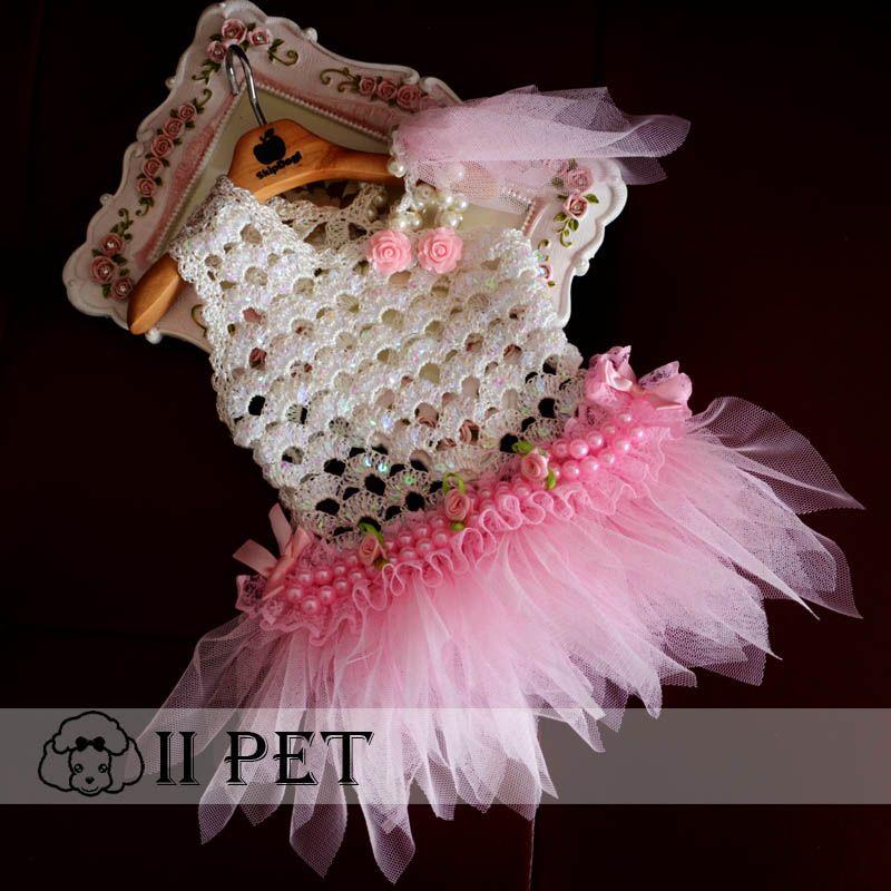 Cheap Hechos a mano de peluche perro vip rosa del vestido de boda de ...