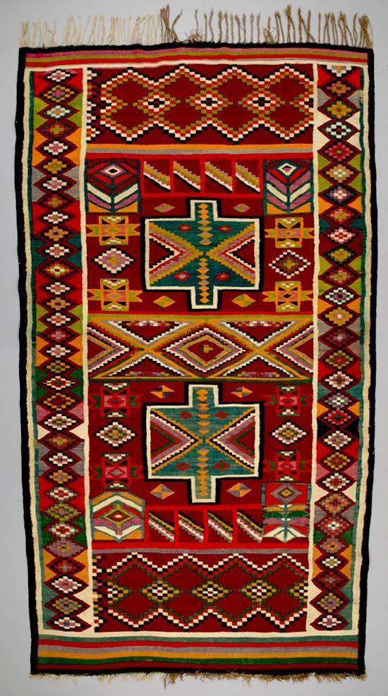 Africa Floor Rug From Sidi Bou Zid Tunisia Ca 1950