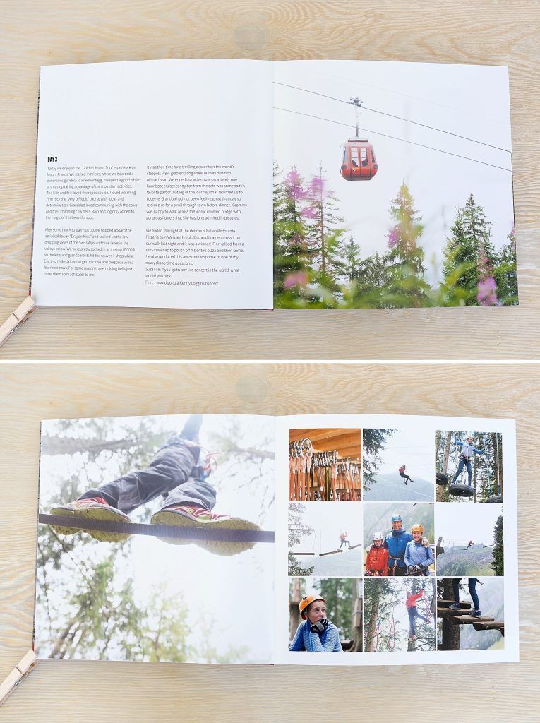 Travel Series Switzerland Fotoboek Layouts Fotoboeken Fotoalbum