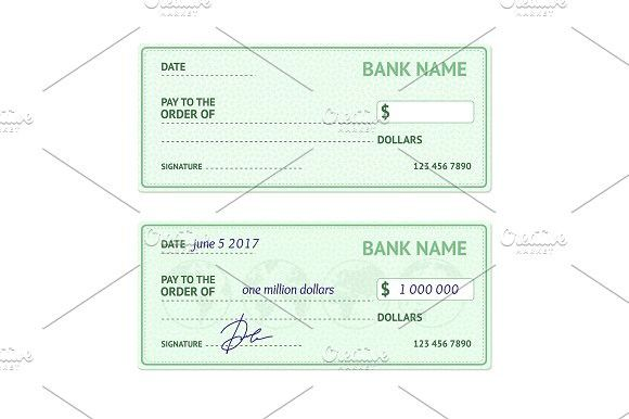 Template Blank Bank Check Template and Vector format - best of 10 chase bank statement