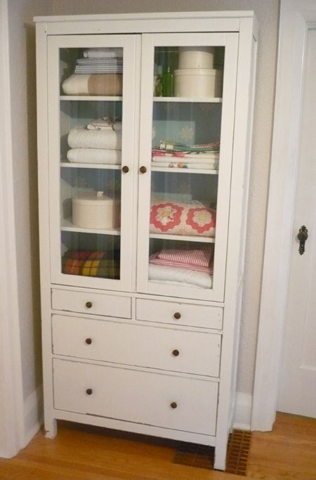 The Hunt for a Glass Door Cabinet HEMNES, Linens and House