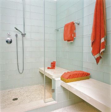 Glass tile for the bathroom Decor Ideas Pinterest Contemporary - Bathroom Glass