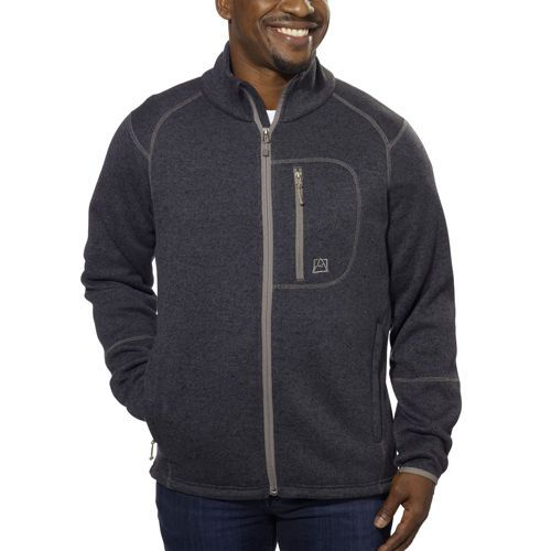 Avalanche® Men's Full Zip Fleece Jacket-Charcoal Black | Decemburr ...