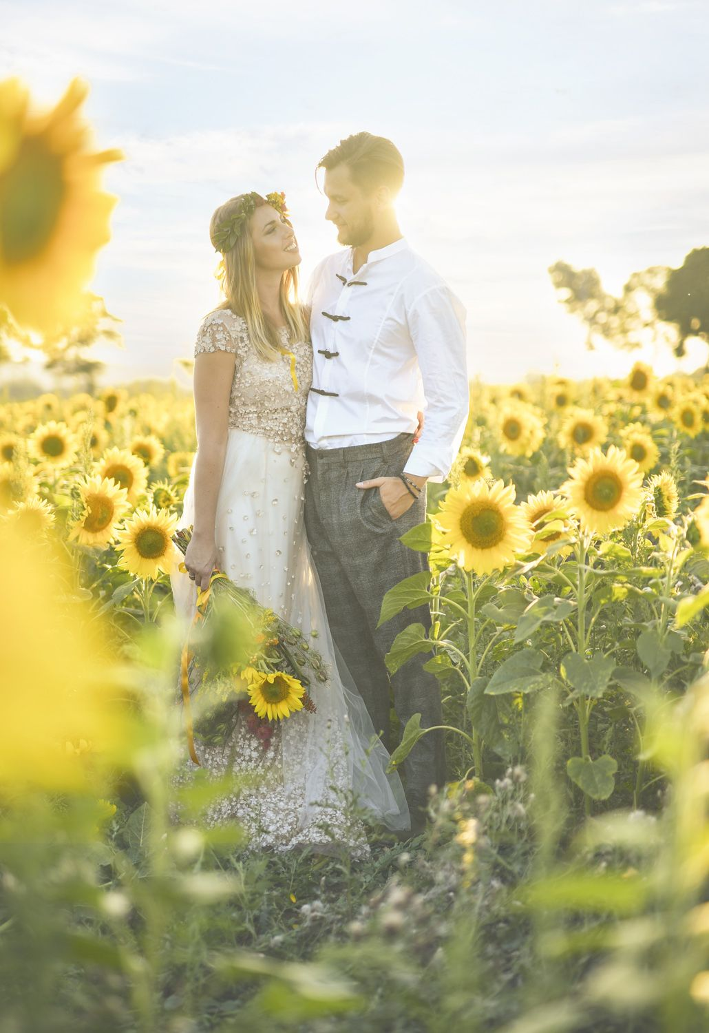 Sunflowers are perfect for summer, late summer and fall