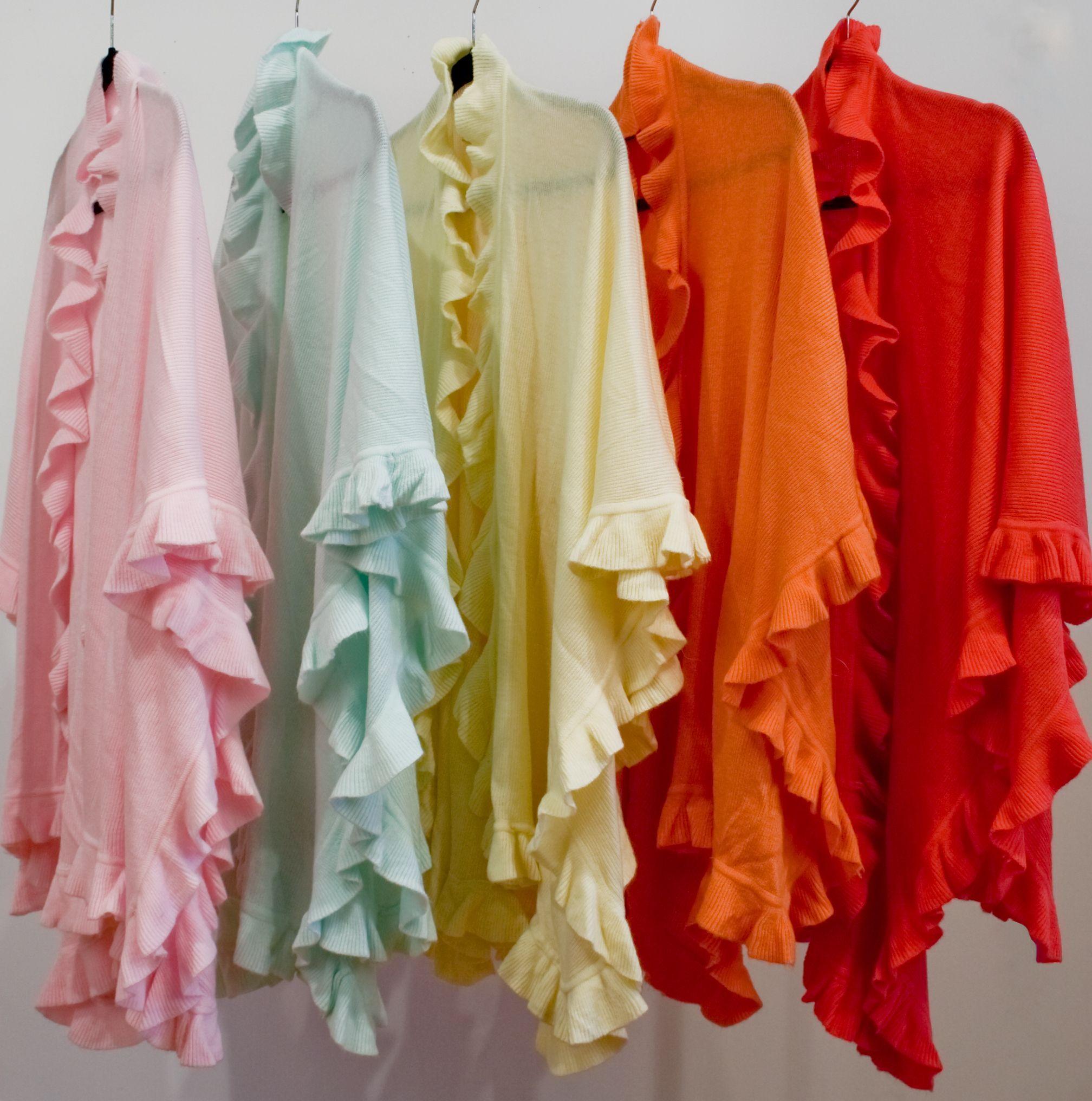 Resort ruffle shawls