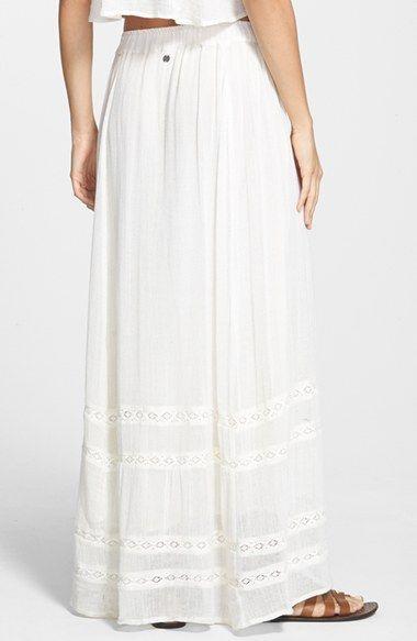 White Maxi Skirts for Juniors