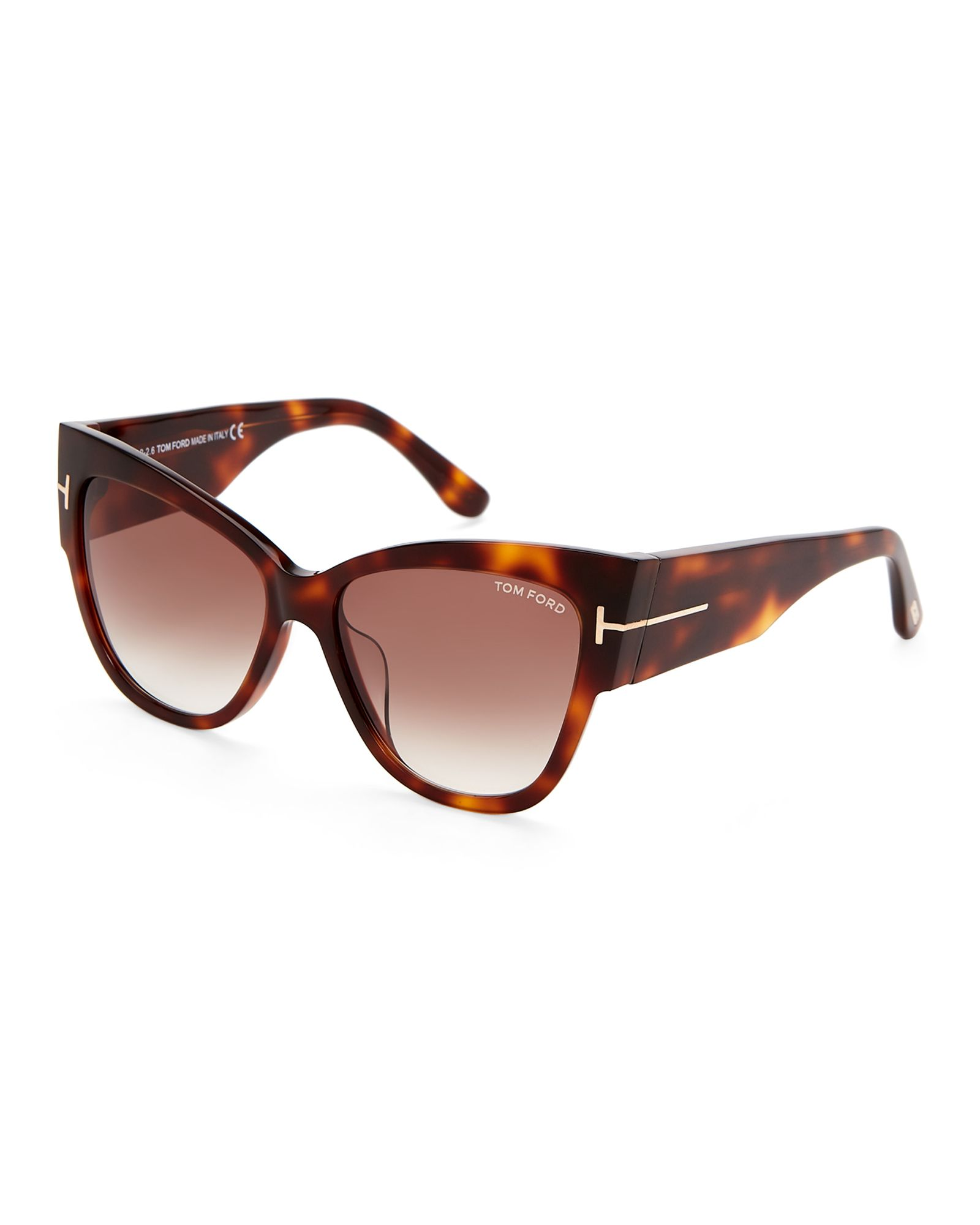 64d0cdf139d5 Tom Ford TF371 Anoushka Havana Cat Eye Sunglasses
