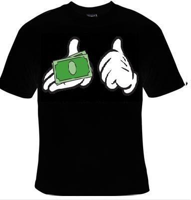 pay me money cards t-shirt cartoon style hands  door Tshirtsdepo