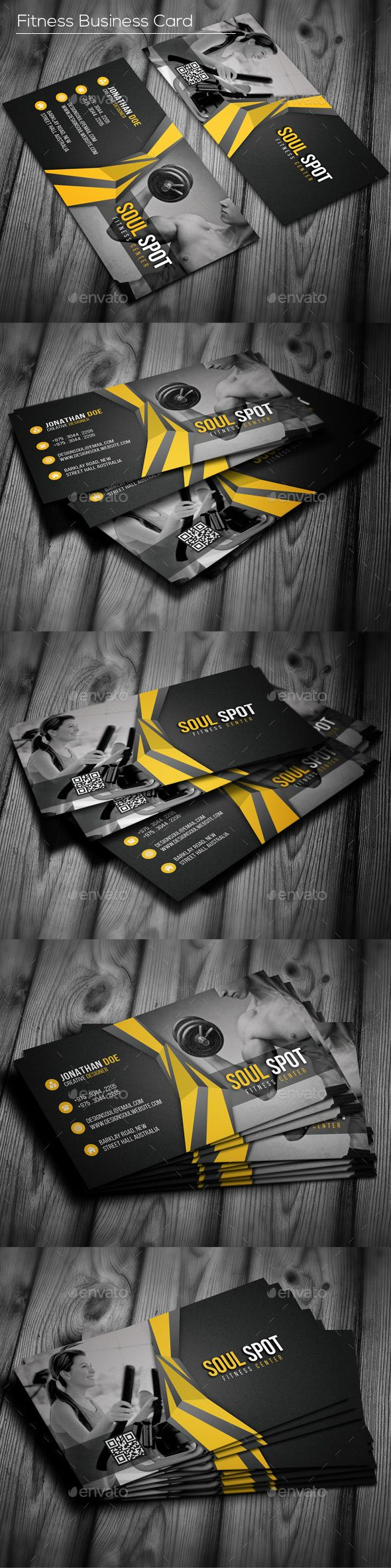 Fitness business card business cards card templates and business fitness business card industry specific business cards download here httpgraphicriveritemfitness business card 16835858srank19refal fatih reheart Choice Image
