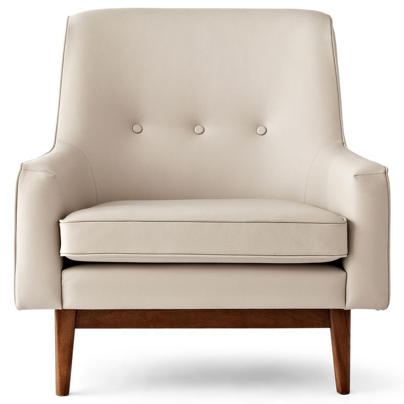 Bleecker Leather Accent Chair 2 Accent Chairs Living