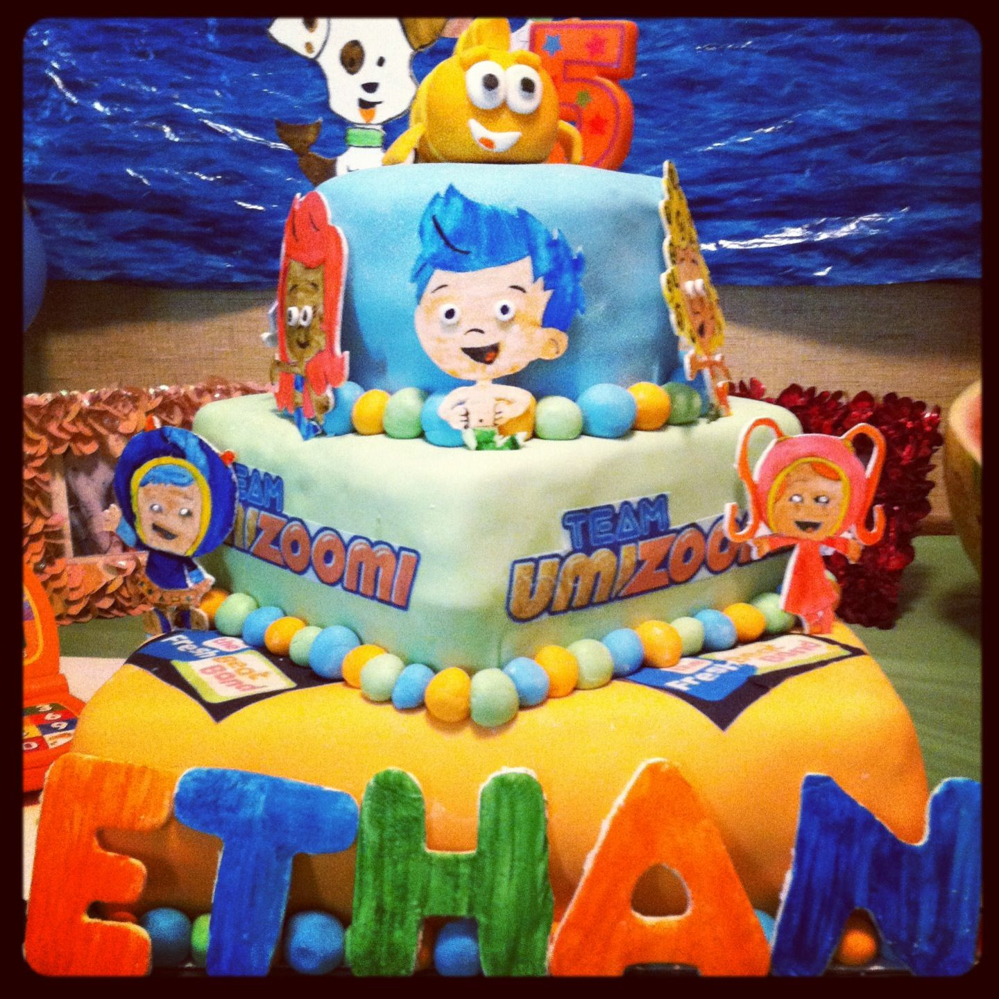 Awe Inspiring Ethans 5Th Bday Cake Nick Jr Themed With Images Cake Funny Birthday Cards Online Alyptdamsfinfo