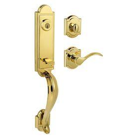 Kwikset Prestige Avendale SmartKey Lifetime Polished Brass Single-Lock Keyed…