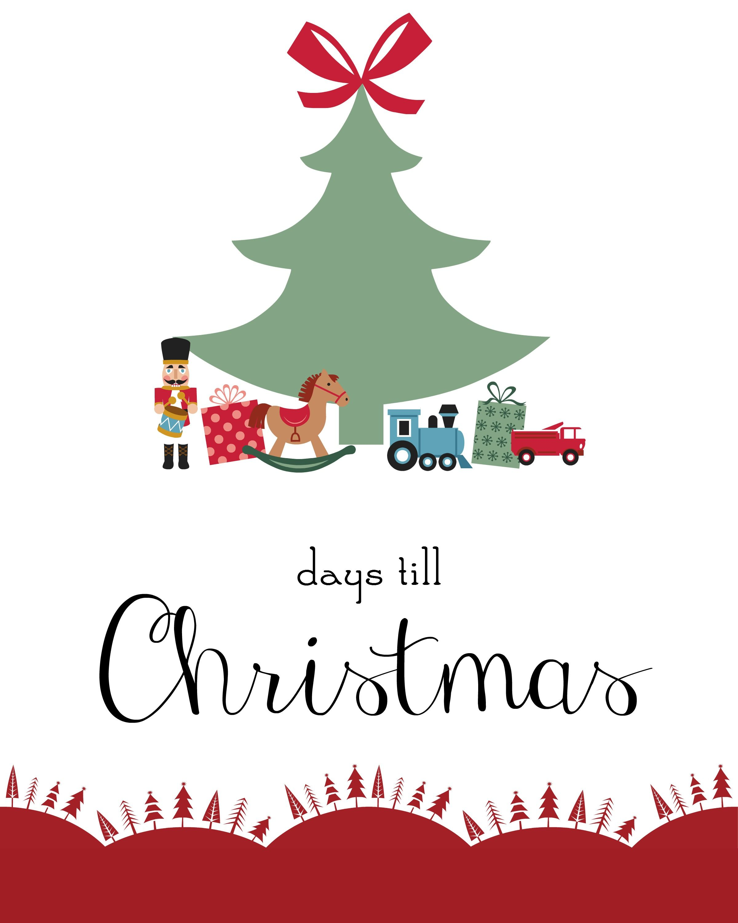 Days Until Christmas Printable.Only 17 Days Till Christmas A Free Printable Christmas