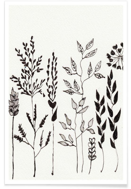 Summer Flower en Affiche premium par Nathalie Köslin | JUNIQE