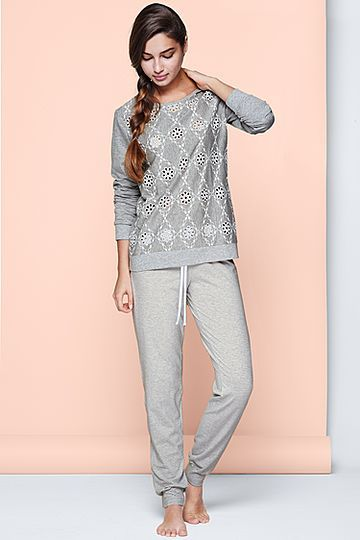 fashionable patterns super cute new Embroidered Jersey Pyjamas - Intimissimi | Sleepwear ...