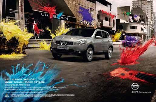 Nissan Qashqai Artistic Paintball ad