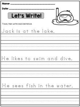 Summer Handwriting Practice (Sentences) | Handwriting ...