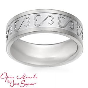 Personalize Your Open Hearts By Jane Seymour Engravable Wedding Band Anniversary Present