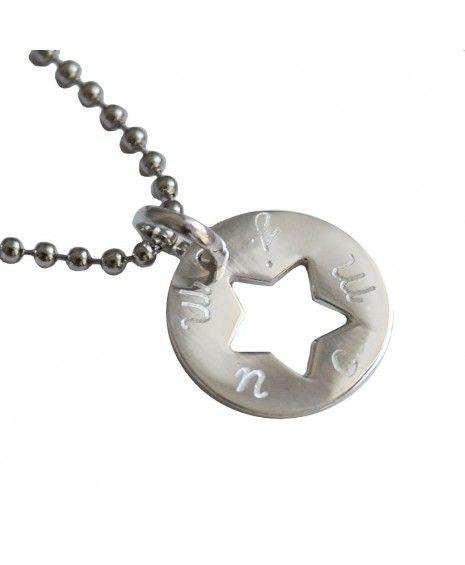 46a6f2ff8840 Collar con colgante de estrella de plata calada